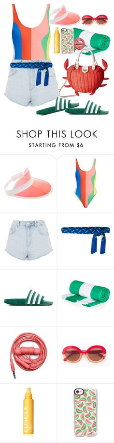 """""""Untitled #230"""" by xmoonagedaydreamx ❤ liked on Polyvore featuring Forever 21, Mara Hoffman, Topshop, Yves Saint Laurent, adidas Originals, Urbanears, Max&Co., Clinique, Casetify and Betsey Johnson"""
