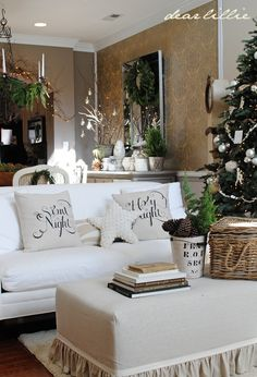 Silent Night, Holy Night pillows from Dear Lillie