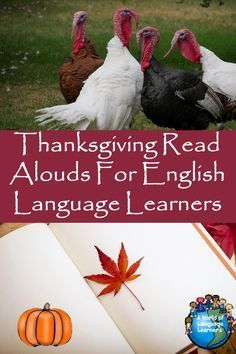 Thanksgiving themed children's books to read aloud to English Language learners. #thanksgiving #thanksgivingideas #booklist #readaloud #reading #esl #esol