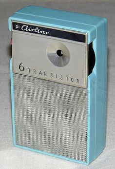 Vintage Airline 6-Transistor AM Radio, Model No. 1225, Made In Japan, Sold By Montgomery Ward.