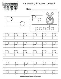 kindergarten letter n writing practice worksheet printable  kids  letter p writing practice worksheet