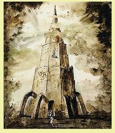 babelziggurat:The Tower of Babel. Tower Of Babel, 18th Century, Language, Fall, Painting, Wolves, Novels, Rome, Stone