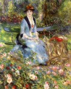 The Athenaeum - Among the Roses (Pierre Auguste Renoir - )