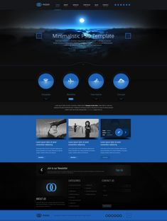 Moon PSD Website Template #design #webdesign #template #web #graphic #psd #photoshop #website #creative #style