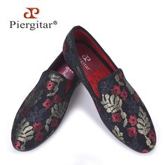 Fair price New sequined cloth printing men shoes Luxury and Fashion three color flower men loafers plus size men's flats size US 4-17 just only $99.00 - 109.00 with free shipping worldwide  #menshoes Plese click on picture to see our special price for you
