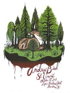 Andrew Bird Providence concert poster by Diana Sudyka - Diana Sudyka - Gallery