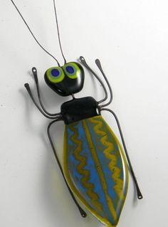 Borris the fused glass bug