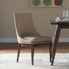 Modern Upholstered Dining Room Chairs belham living carter mid century modern upholstered dining chair