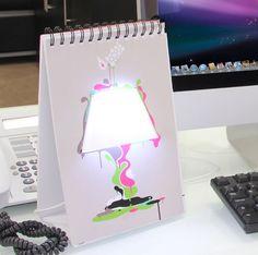 Lámpara Libreta USB, para dibujar