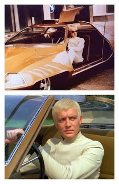 Ed Straker with his futuristic looking car from my favourite Gerry Anderson show #UFO .... how I loved this tv Show!