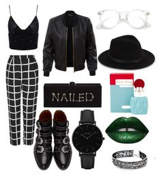 ☆¤Night On The Town¤☆ by voodoodall-666 on Polyvore featuring polyvore fashion style LE3NO Topshop Givenchy CLUSE White House Black Market Saks Fifth Avenue Miu Miu clothing