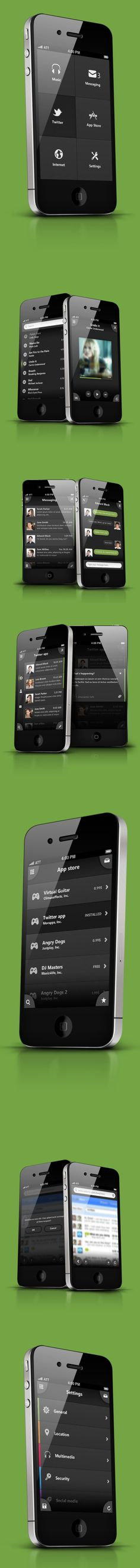Phone UI Retina - Apocalipse by Ismail MESBAH