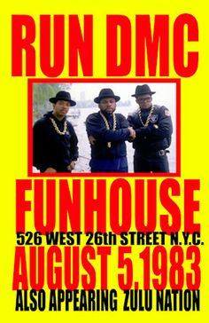 "Run DMC Concert Poster 1983 NYC  • 100% Mint unused condition • Well discounted price + we combine shipping • Click on image for awesome view • Poster is 12"" x 18"" • Semi-Gloss Finish • Great Music Collectible - superb copy of original • Usually ships within 72 hours or less with > tracking. • Satisfaction guaranteed or your money back.  Sportsworldwest.com Tour Posters, Band Posters, Event Posters, Music Posters, Hip Hop Classics, Vintage Concert Posters, Run Dmc, Music Images, Rock Concert"