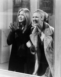 "Friends - Phoebe & Rachel: ""Chandler and Monica, CHANDLER AND MONICA!!!! My Eyes! My Eyes!!!"""