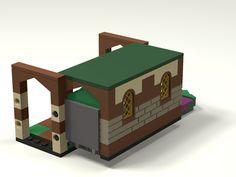 [MOC] Boîte de présentation Moi et mon dragon, en mini-maison de campagne