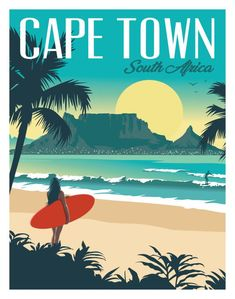 Your favorite destinations in the world are featured as wall art, t-shirts, hoodies, phone cases and more! Art Deco Posters, Vintage Travel Posters, Poster Prints, Surf Posters, Photo Vintage, Vintage Surf, Vintage Style, Vintage Hawaii, Art Et Design