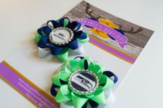Seattle Seahawks Hair Bow Set by MaymeesBoutique on Etsy, $6.00
