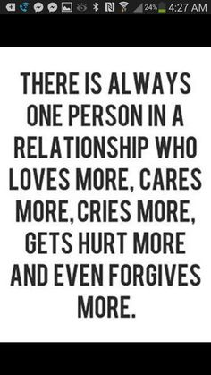 Relationship, loves, cares, cries, hurt, forgives, more