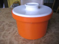 Vintage Orange Plastic Canister - Container - Retro DÉCOR Australia Kitchenware