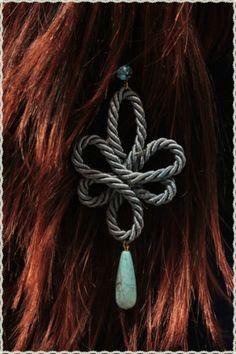 Orecchini in passamaneria azzurra con punto lunce e goccia *errings lace   eBay