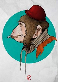 Monkey Dijital Painting  #monkey #animal #painting #drawing #sketch  #color #dijital #art