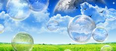 Photoshop Tutorials: Nice Transparent Bubbles Creation