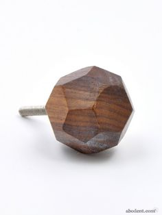 Faceted Wood Cupboard Knob | Cool Wooden Handles | Unique Knobs, Hooks & Homeware | abodent.com