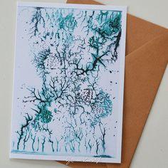 Watercolor art card met envelop gevouwen kaart door SuzanneKruisdijk