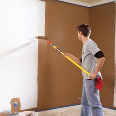 To avoid lap marks, roll the full height of the wall and keep a wet edge. Lap marks are those ugly stripes caused by uneven layers of paint buildup. They occur when you roll over paint that's already partly dry. (In warm, dry conditions, latex paint can begin to stiffen in less than a minute!) The key to avoiding lap marks is to maintain a