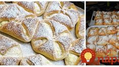 Krehké taštičky z kyslej smotany: Cesto len z 3 prísad – nekysnú a hotové sú hneď! Yummy Cookies, Food And Drink, Bread, Hampers, Backen, Breads, Sandwich Loaf