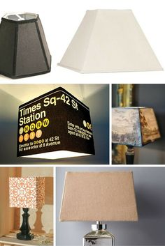 inspiration for making square panel geometric lampshades