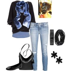 A fashion look from January 2013 featuring Emilio Pucci sweaters, Joe's Jeans jeans and Siren flats. Browse and shop related looks.