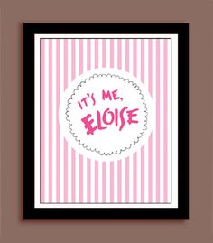 Our Eloise at the Plaza print is perfect for your childs birthday party or use as wall decor. Measures approximately 8x10 and could be displayed beautifully in a standard size frame. This is a digital file pdf. * Color may look different on screen from finished print Convo me if youre interested in another size or customizing designs.
