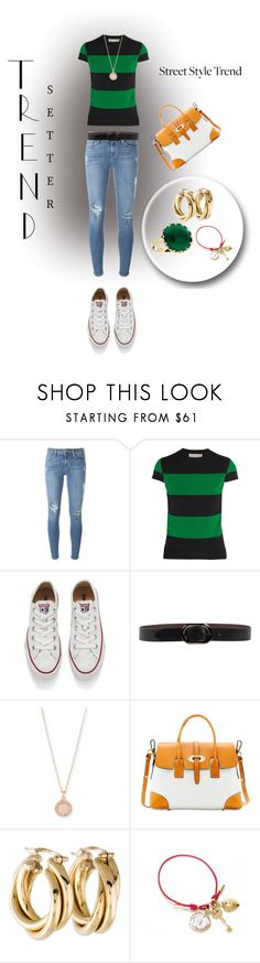"""Untitled #1916"" by swc0509 ❤ liked on Polyvore featuring Frame, STELLA McCARTNEY, Converse, Orciani, Astley Clarke, Dooney & Bourke, Dolce&Gabbana and Lana"
