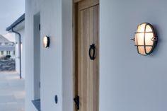 Coastal touch: Iconic Davey Yacht Brass Bulkhead Lights #lighting #coastal #marine Outdoor Wall Sconce, Outdoor Walls, Outdoor Lighting, Industrial Lighting, Pendant Lighting, Candle Sconces, Wall Sconces, Davey Lighting, 19th Century London