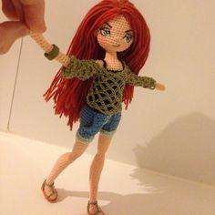 modern crochet doll