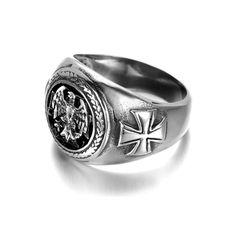 ค้นเจอแล้ว ราคาถูกมากกกก KR960 Men's Stainless Steel Ring (Silver) (Intl) คุณภาพดี ราคาไม่แพง