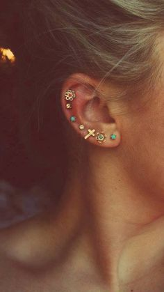 I want this group of piercings & the jewellery is cute too but I am going for more classic than casual just for the healing process atleast, so I am not stuck with styled jewellery for what could be several months. Healing is always the hardest for me cos initial piercing jewellery is never what I want :(