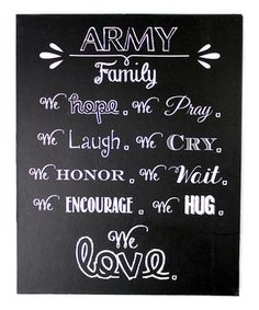 Loving this Black Chalkboard 'Army Family' Magnet on #zulily! #zulilyfinds