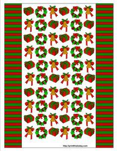 DIY Des emballages de bonbons pour Noël. (Christmas Candy Wrappers Printable) (http://printthistoday.com/free-printable-christmas-candy-wrappers/)