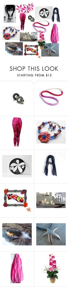 Saturday Shopping by anna-recycle on Polyvore featuring Scialle, Mikasa, Nearly Natural, modern, rustic and vintage