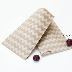 Chevron Brown Paper Favour Or Sweet Bags