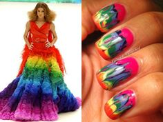 Valiantly Varnished: McQueen Challenge Day 3 - Tie Dye Drag Mani