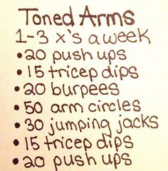 arms workout. Can be done at home while the kids are watching their favourite show :)
