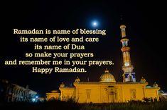 Read and send Ramadan Kareem wishes to relatives and family members. Ramadan Wishes, Ramadan Greetings, Prayer And Fasting, Ramadan Mubarak, Good Deeds, Taj Mahal, First Love, Prayers, Blessed