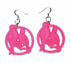 Lovebirds korvikset pinkki 7,50€