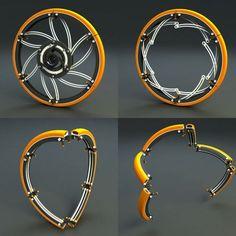 Collapsing Bicycle Wheels