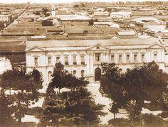 TALCA: Palacio Consistorial y Plaza de Armas, 1908