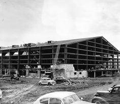 1954, Allen Fieldhouse under construction.