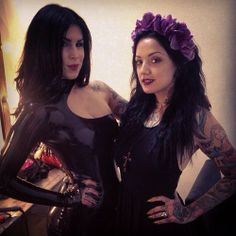 Shooting @thekatvond in some @janedoelatex today with @lioneldeluy  [April 25th, 2014 via Nina] Kat von D